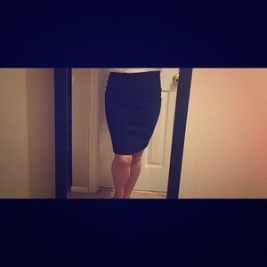 Escada Black Wool Skirt